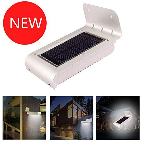Kootek Solar Powered Garden Lights 16 Led Motion Sensor Detector Outdoor Security Light Waterproof Home Yard Lamp (2014 Latest Version)
