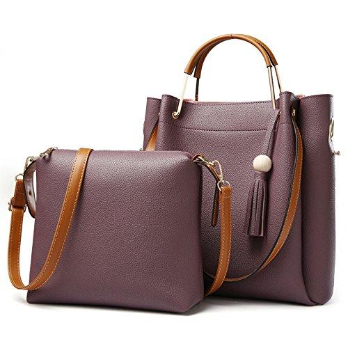Koson-Man, Borsa tote donna, Purple (viola) - KMUKHB122-02