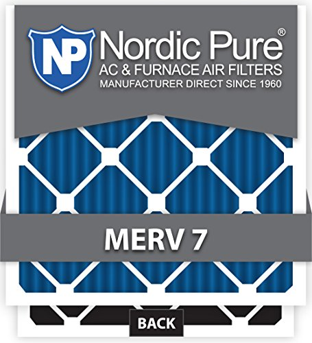Nordic Pure 16x25x1 MERV 7 Plus Carbon AC Furnace Air Filters, Qty 6