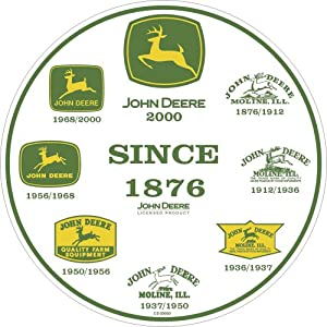 Amazon.com: John Deere Round Sign, History of Logos: Home & Kitchen