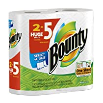 Bounty Sanitizing Paper Towels, Huge Size, 12 Count Waterless Hand Paper Towels