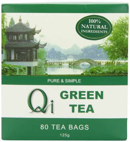 Qi Teas Organic Green 80 Teabags (Pack of 5, Total 400 Teabags)