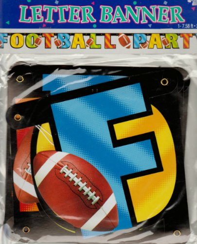 Football Party Letter Banner (1ct)