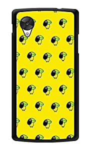 "Humor Gang Cute Small Bird - Yellow Printed Designer Mobile Back Cover For ""Lg Google Nexus 5"" (3D, Glossy, Premium Quality Snap On Case)"