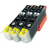 EPSON(エプソン) 高品質 純正互換インクカートリッジ ICBK80L【増量タイプ】ブラック3本セット 残量表示機能付 Angelshopオリジナル