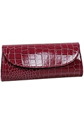 SHENGXILU Women's/Lady's PU Leather Handbag Little Exquisite Bowknot Crossbody Bag