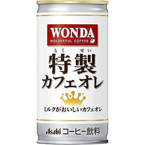 [일본 아사히 캔커피 원다 WONDA] 아사히 음료 원 다 특제 카페 오레 185g×30개