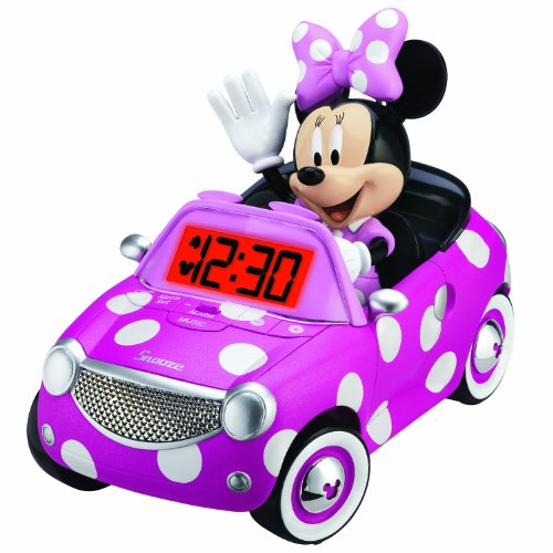 Minnie Mouse Alarm Clock, Pink front-216381