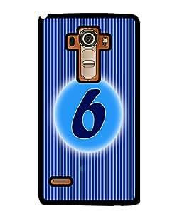Fuson 2D Printed Numerology Designer back case cover for LG G4 STYLUS - D4223
