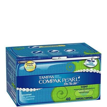 Tampax Pearl Tampons  Plastic Applicator, Compak,