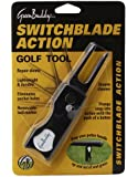 GreenBuddy Switchblade Action Divot Repair Tool/Club Prop/Groove Cleaner With Magnetic Ball Marker