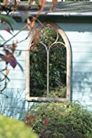 Rustic Garden Outdoor Wall Mirror Chapel Window Design 3ft8 x 2ft 112cm x 61cm by Mirroroutlet