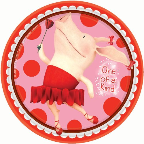 "Olivia Party Supplies 7"" Dessert Plates - 8 Each"