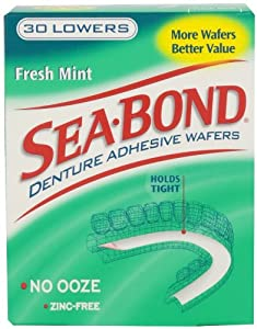 Sea-bond Fresh Mint Lowers, 30 Count