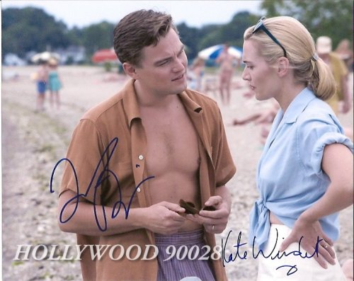 Movie Photo Signed By Leonardo Dicaprio and Kate Winslet