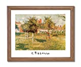 Camille Pissarro French Landscape Flowers Girl Woman Wall Picture Oak Framed Art Print