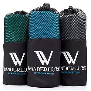 Wanderluxe Microfiber Travel Towel XL / Gym Towel Set | Super Absorbent and Fast Drying | Bath Towel (60