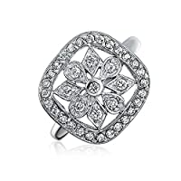 Bling Jewelry Sterling Silver Cushion Classic Pave Snowflake Ring by Bling Jewelry