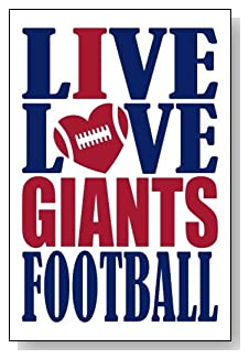 Live Love I Heart Giants Football lined journal - any occasion gift idea for New York Giants fans from WriteDrawDesign.com
