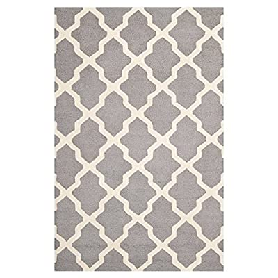 Safavieh Cambridge Collection CAM121A Handmade Light Blue and Ivory Wool Area Rug