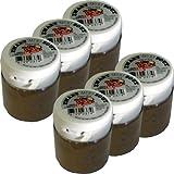 Original niederländisches Salmiakpulver 6er-Pack salzig 6 x 25g (Zwart Wit Zout)
