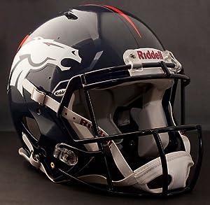 DENVER BRONCOS NFL Riddell Revolution SPEED Football Helmet by www.realhelmets.com
