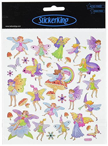 Multi-Colored Stickers-Fairy Fantasy