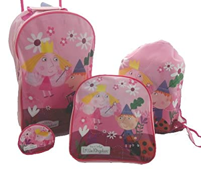 4pcs Ben And & Holly Trolley Wheeled Bag Luggage Set by BEN AND HOLLY