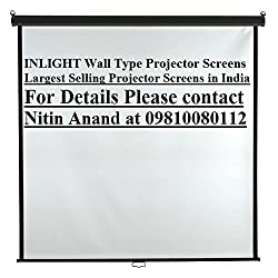 Inlight Wall Type Projector Screen, Size- - 4 Ft. x 4 Ft. (IN IMPORTED HIGH GAIN FABRIC)