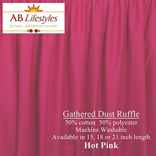 Hot Pink Bed Skirts front-1065003