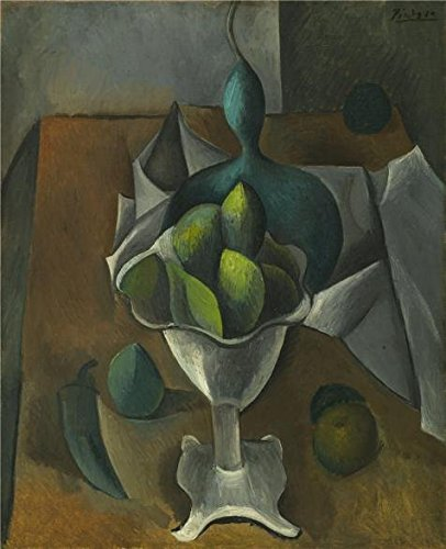 'Pablo Picasso-Fruit Dish,1909' Oil Painting, 18x22 Inch / 46x56 Cm ,printed On High Quality Polyster Canvas ,this High Definition Art Decorative Canvas Prints Is Perfectly Suitalbe For Living Room Artwork And Home Decor And Gifts (Carrel Dishes compare prices)