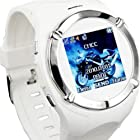 Great Watch GSM Cell Phone Support Bluetooth MP3 MP4 FM AV Camera Touch Screen (White)