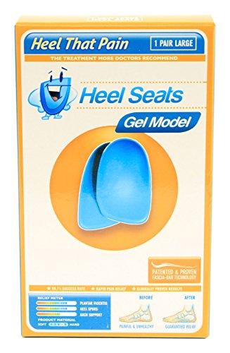 Gel Heel Seat Cup Inserts - Heel That Pain - (Men 9-12; Women 11-13) Large (Htp Heel Cups compare prices)