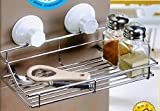 Stainless Steel Suction Bathroom / Kitchen Rack Shelf Storage Soap Holder Soap Dish with smooth surface adapter plate.