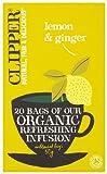 Clipper Organic Lemon & Ginger 20 Tea Bags (Pack of 6)