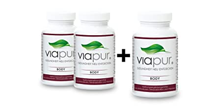 viapur® BODY, Aminosäuren, Mineralstoffe und Vitamine, 2 Dosen + 1 Dose Gratis, ausreichend fur 3 Monate