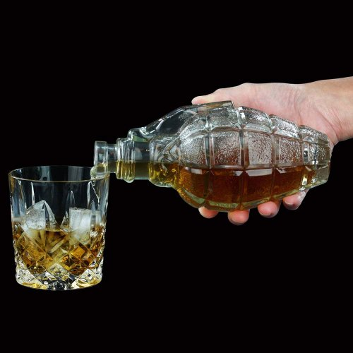 Grenade Glass Decanter