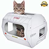 BEST CAT TOY FOR INDOOR & OUTDOOR CATS BY KITTY CAMPER - Stylish Cardboard Houses Designed To Cheer Up Any Grumpy Feline - Cool Scratcher Lounge, Toys Or Bed For All Day Interactive Fun!FREE EBOOK