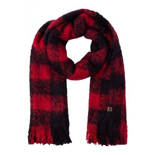 Sciarpa Superdry Super Orkney Scarf Red Black, rosso