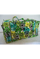 Vera Bradley Large Duffel in Lime's Up