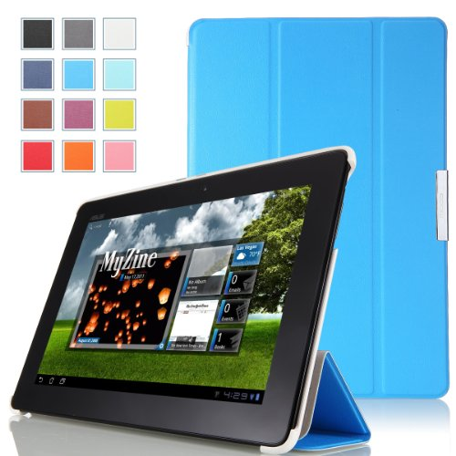 MoKo Ultra Slim Lightweight Smart-shell Stand Case for ASUS MeMo Pad Smart ME301 / ME301T 10.1 inch Android 4.1 Jelly Bean tablet, BLUE