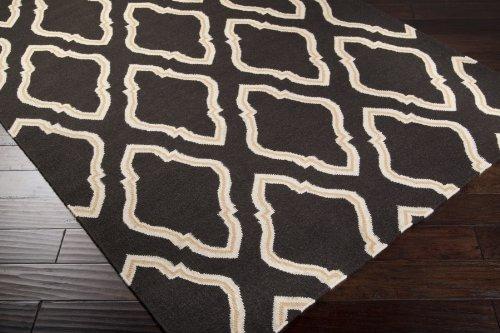Jill Rosenwald by Surya Fallon FAL-1049 Flatweave Hand Woven 100% Wool Espresso 3'6