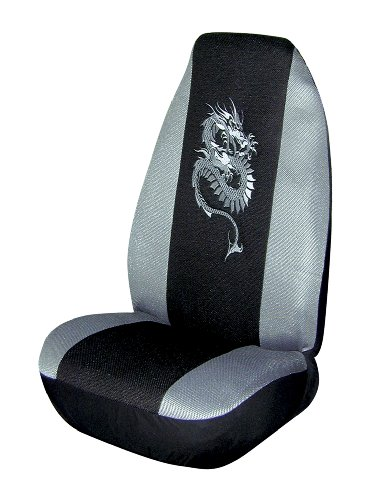 Allison 65-2741GRY Gray Dragon Universal Bucket Seat Cover - Pack of 1