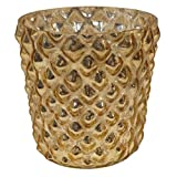 GolMaalShop Glass Candle Holder Slim (4.4 X 11.4 Inches, Silver)