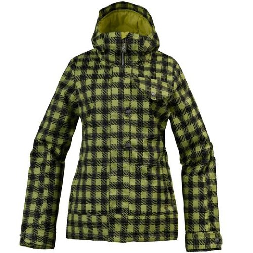 Burton Method Jacket Damen Snowboardjacke grass stain chk pld Gr. XS