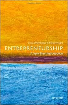 Entrepreneurship: A Very Short Introduction (Very Short Introductions)
