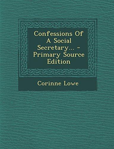 Confessions Of A Social Secretary...