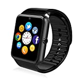 Akaso GT08 Bluetooth Smart Watch Wirst Phone Mate For Andorid Phone Pedometer Anti-lost Touch Screen-Black Color