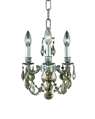 Crystal Lighting Lillie 3-Light Mini Chandelier  [Pewter]