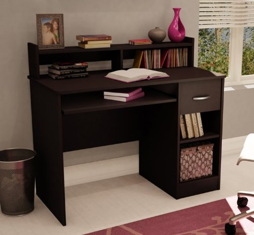 Buy Low Price Comfortable Home Office Small Computer Desk in Chocolate Finish (B003CGIKCO)